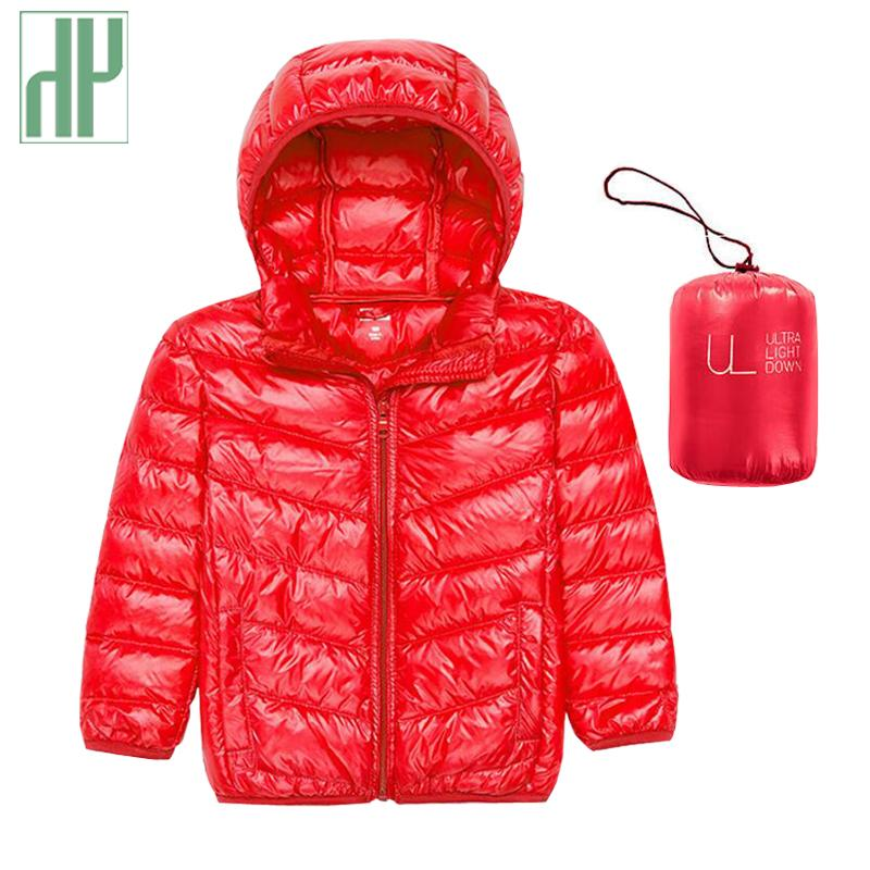 HH Children's Outerwear cheap Boy and Girl Winter Hooded Coat parka warm teenage jackets 2 6 8 10 12 14 years kids down jacket