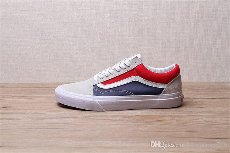 Classique Skool Chaussures Hommes Acheter Old Rouge Skate Vans Bleu kPuZXiO