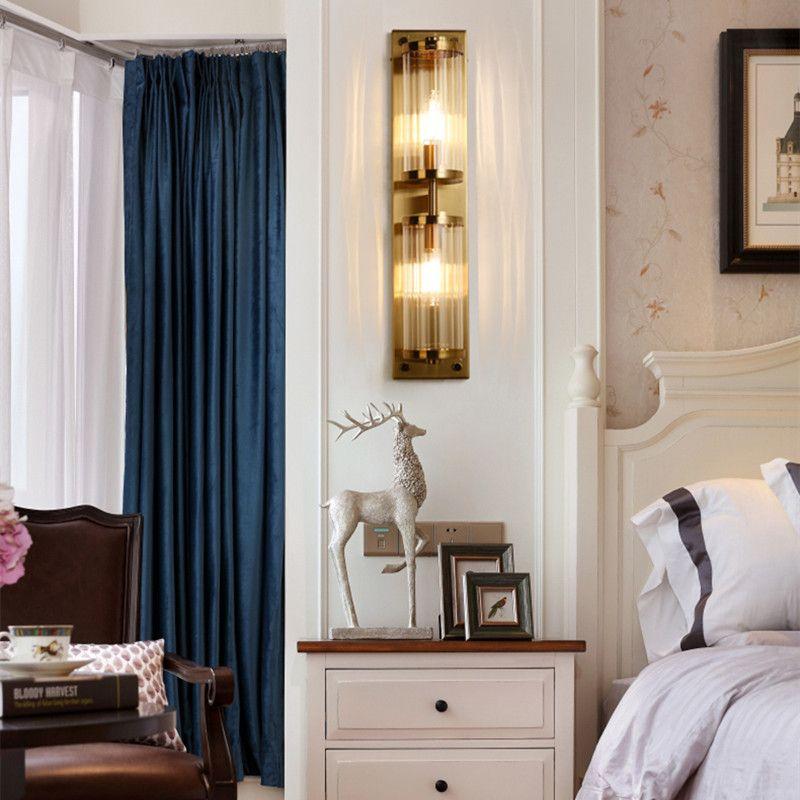 Acheter Loft Moderne Creative Cristal Applique Murale Or Chambre À ...