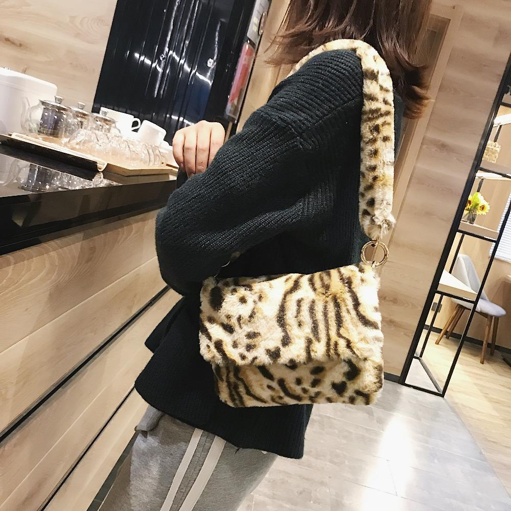 afbcc66d68 Women Winter Faux Fur Shoulder Bag Fashion Handbag Lady Leopard Print  Handbags Female Party Small Girls Tote Bag Christmas Gift Cheap Designer  Bags Mens ...