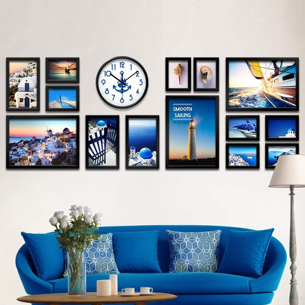 Großhandel 14 Bilderrahmen Wand Galerie Kit Beinhaltet: Wanduhr, Art ...
