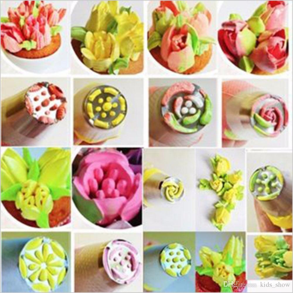 Aço Inoxidável Russa Tulipa Bicos De Tubulação De Geléia de Pastelaria Decoração Dicas Bolo Cupcake Decorator Rose Acessórios de Cozinha