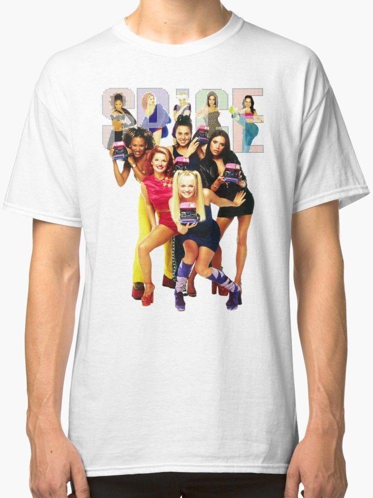 db9c2ed4a SPICE GIRLS Men'S White Tees T Shirt Clothing Design Own T Shirt T ...