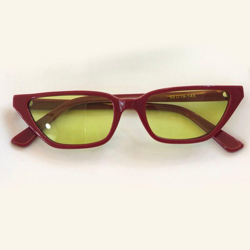 07832fbac92f3 Popular Sunglasses Women Shades 2018 Luxury Designer Fashion Thin Cat Eye  Sunglasses Female Small Acetate Sun Glasses Sunglasses Eyeglasses From  Dh brand