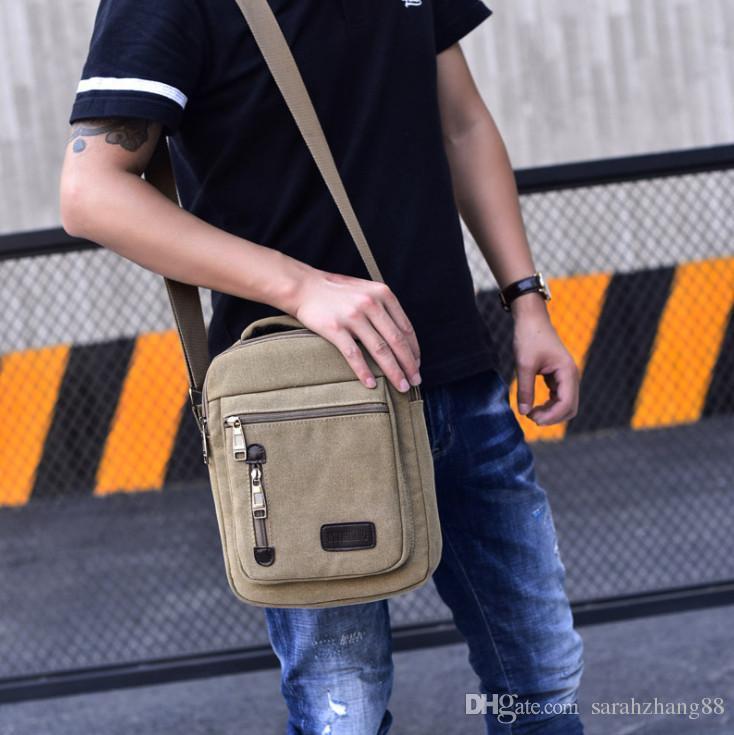 Fashion Small Canvas Shoulder Bag Messenger Bag Work Satchel Portable Casual Ipad, Travel School Crossbody Bag Multipurpose Handbag