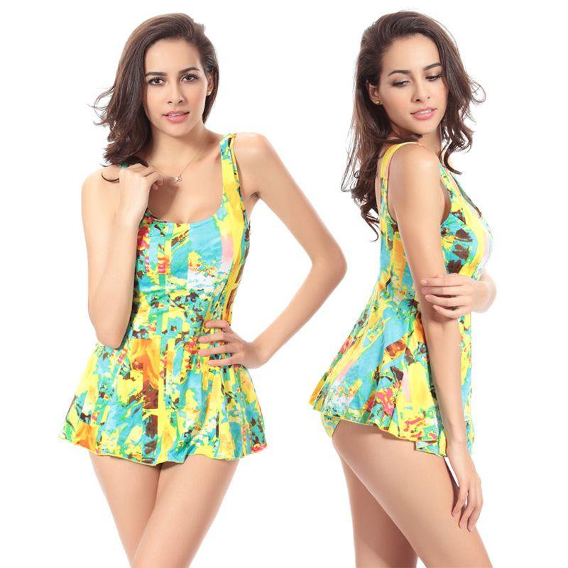 f506cdd0269ba Print Big Female Large Bathing Suits Women S One Piece Modest Swimsuit Push  Up Plus Size Swimwear VS009 UK 2019 From Bestrade88