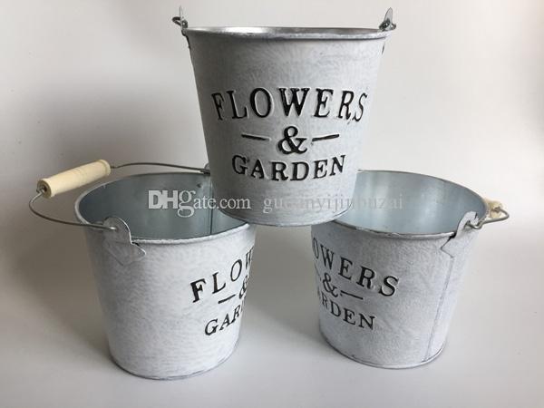 2018 d16xh15cm white flowerpot metal planter round iron buckets big d16xh15cm white flowerpot metal planter round iron buckets big flower tub tin pails flowers and garden mightylinksfo