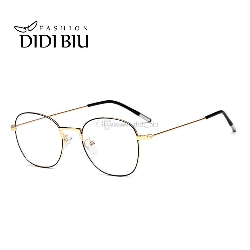 5833161ab5fc8 2019 DIDI Fashion Oval Optical Frames Eyeglasses Women Men Brand Designer  Vintage Thin Metal Frame Glasses Frame Clear Lens UN972 From Didi biu