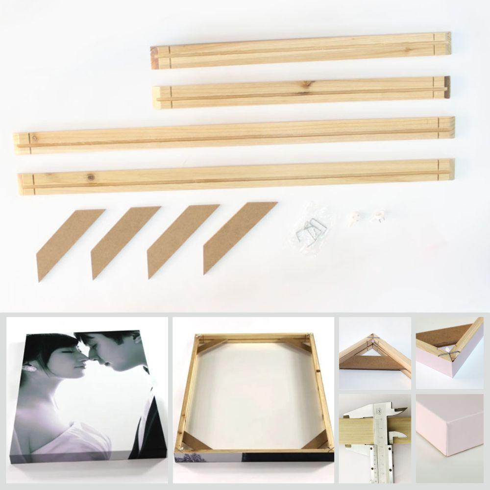 acheter kkygu photo cadre mur photo cadre en bois naturel bricolage