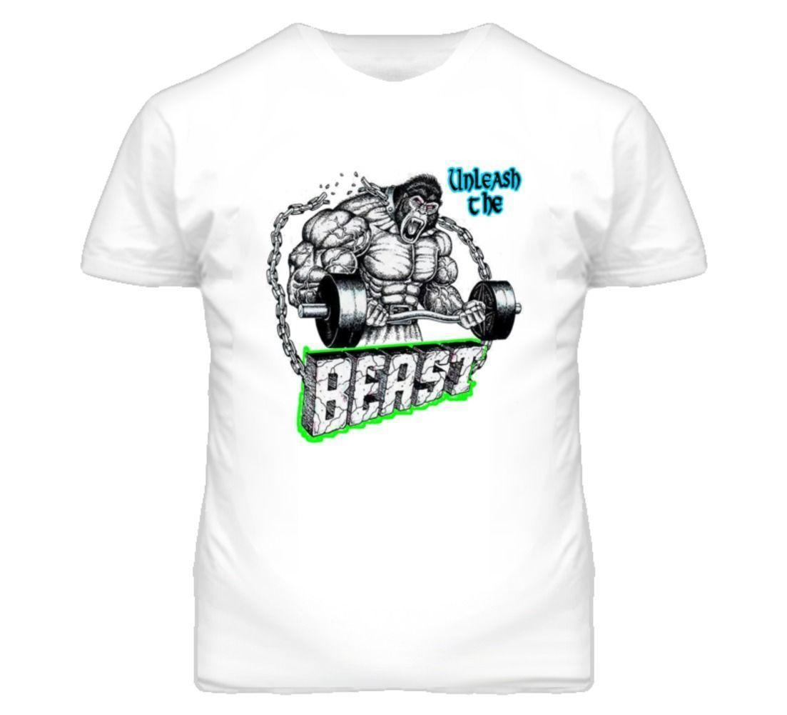 UNLEASH THE BEAST WORKOUT MUSIC T Shirt Mens 2018 fashion Brand T Shirt  O-Neck 100%cotton T-Shirt Tops