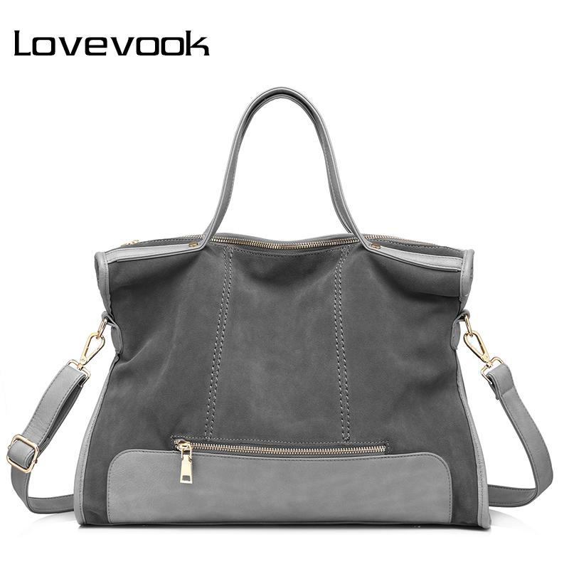 LOVEVOOK Brand Fashion Female Shoulder Bag High Quality Patchwork Split  Leather Handbag Ladies Tote Bag For Office Work Fashion Handbags Large  Handbags From ... faf1aa646f