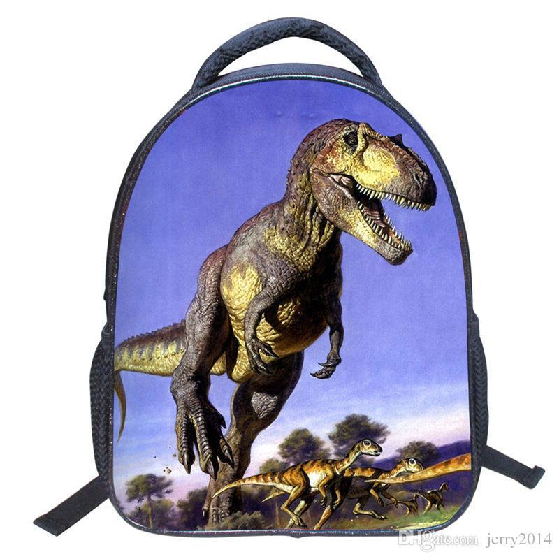 2018 Nouveau Printemps Élèves 3D dinosaure Imprimer Sac À Dos Étudiants De Style Européen et Américain Sacs Maternelle enfants Mode Sac À Dos pour Garçons