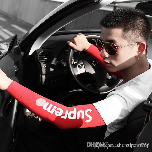 Outdoor Driving Summer Sunscreen Sleeves For Driving Cool Ice Silk