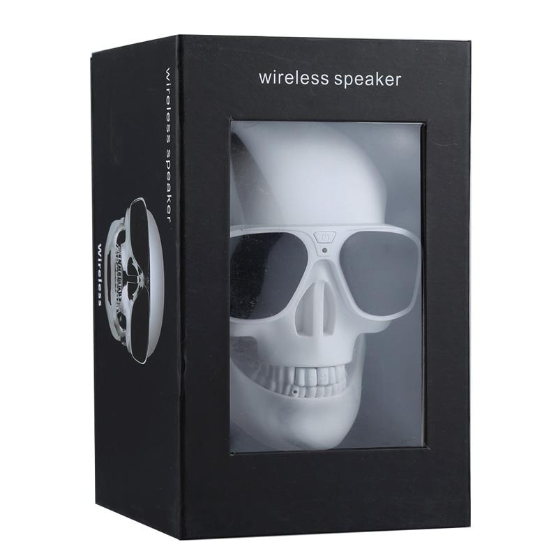 Sunglasses Skull Bluetooth Stereo Speaker Wireless Portable Loudspeaker Outdoor Sound Box Handsfree for iPhone Samsung LG Phone