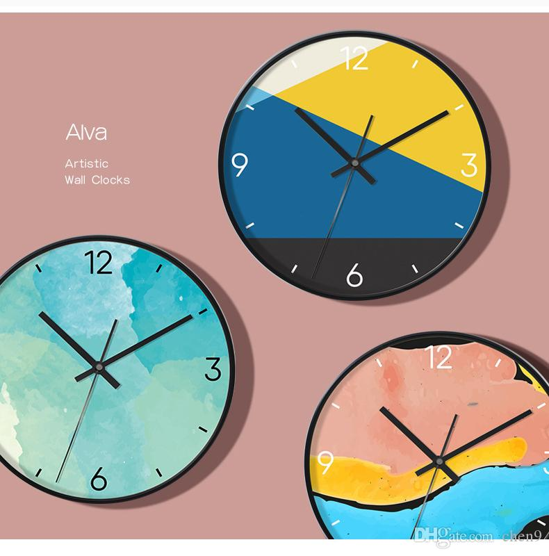 Nordic Wall Clock Living Room Household Personality Creative Fashion ...