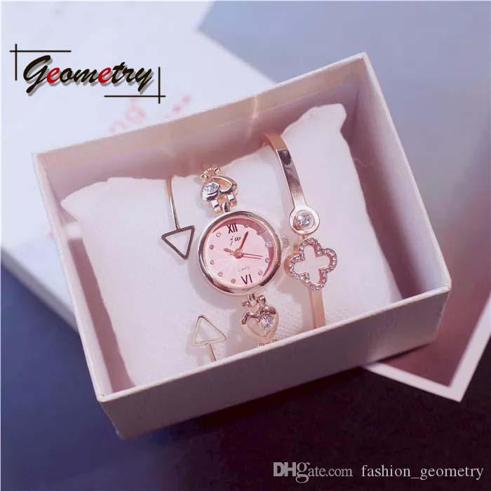Girls Birthday Girlfriend Fashion Watches Gifts Set Valentine Day Gift Fragrance Romantic Festival Heart Bangle 2018 New Product Canada 2019 From