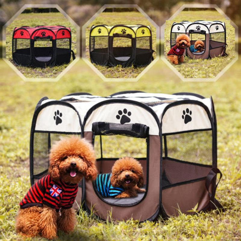 2018 cover capacity pet fence dog kennel play pen puppy soft playpen tent exercise run cage folding crate from puppyoli 28 39 dhgate com