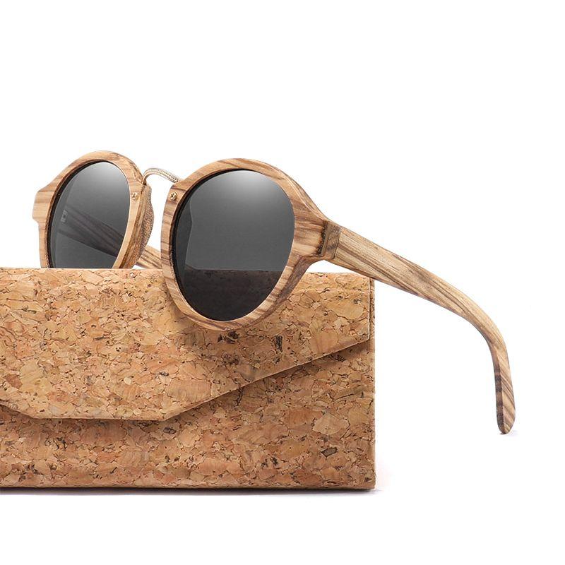 c0f2a48fd2b X9072018 Zebra Wood Sunglasses For Men Women Retro Round Sun Glasses ...