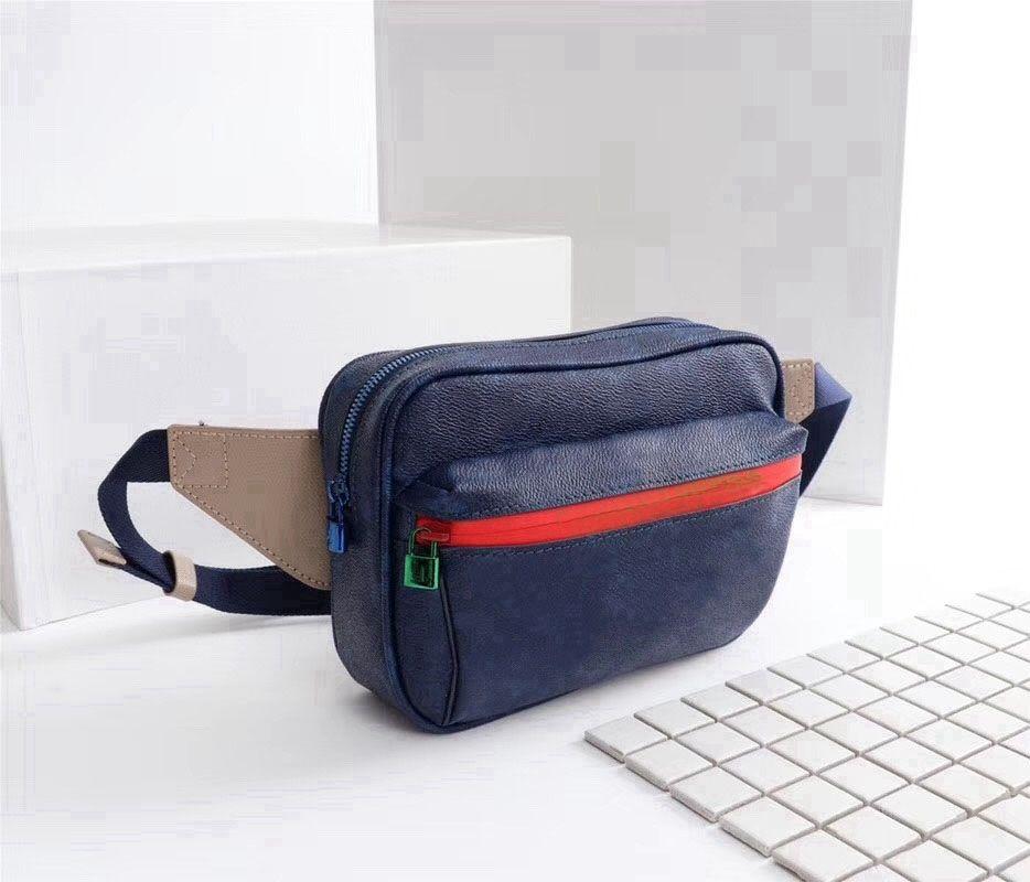 2990348831d 2018 new Man belt bag famous brand leather waist bag men luxury designer  waist pack pouch small graffiti belly bags free shipping