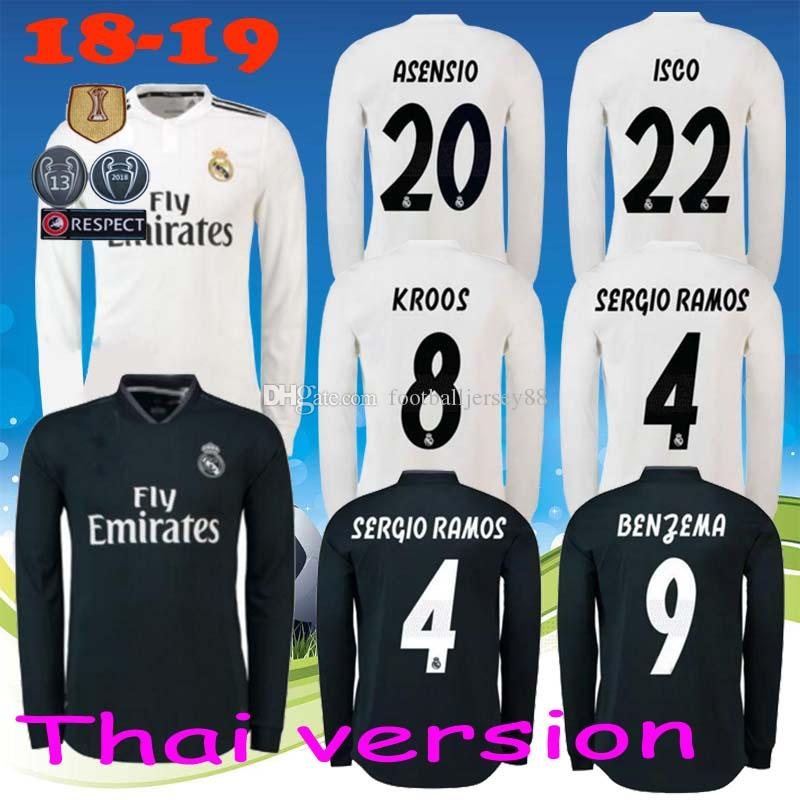 size 40 d7b0f a18e1 low cost real madrid champions league jersey long sleeve 81 ...