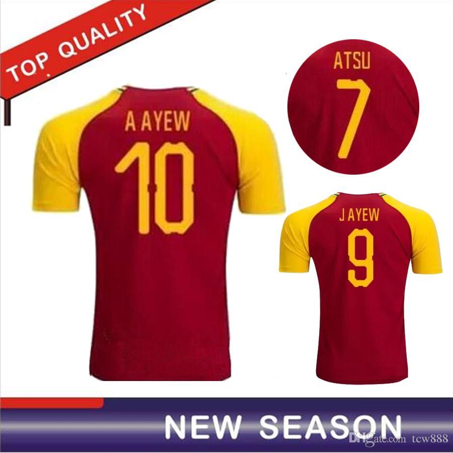 2fd29871fa0 2019 2018 World Cup Ghana Home Soccer Jersey 18 19 Uniforms Michael Essien  GYAN AYEW MUNTARI ASAMOAH Men Ghana Football Shirts From Tcw888