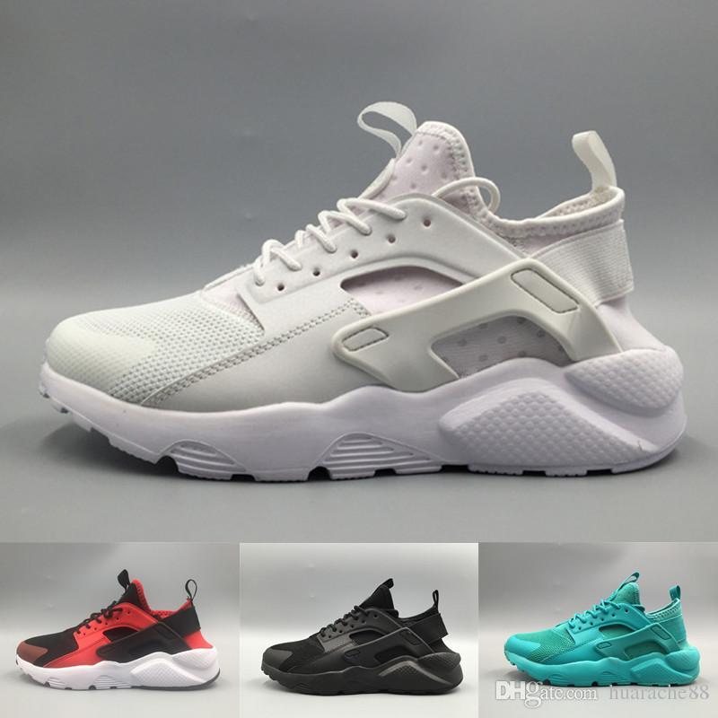 new style 5e970 faa27 Compre Moda Huarache 4 Zapatillas Para Hombre Mujer, Negro Blanco Gris Zapatillas  De Deporte De Diseño Triple Huaraches Gym Sports Shoes Eur 36 45 A  55.84  ...