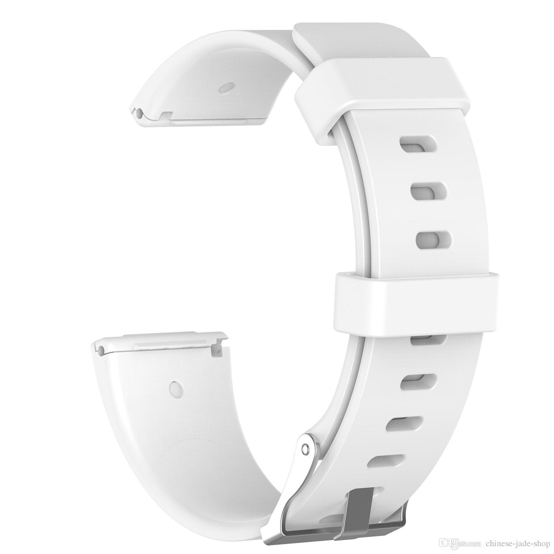 Fitbit Versa 2 1 Versa Lite Yumuşak Silikon TPE Yedek İzle Gruplar Bileklik Bilezik Bant Giyilebilir Kemer kayışı / için