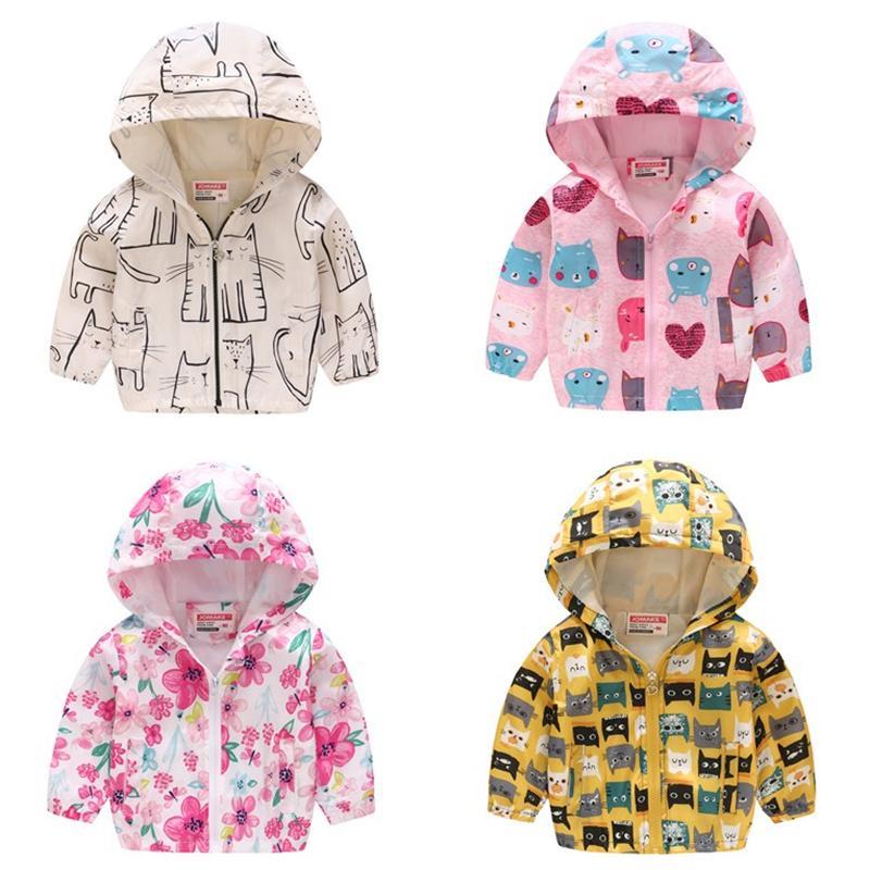 484ec8280177 Baby Girls Jackets 2018 Autumn Spring Hooded Kids Outerwear Children ...