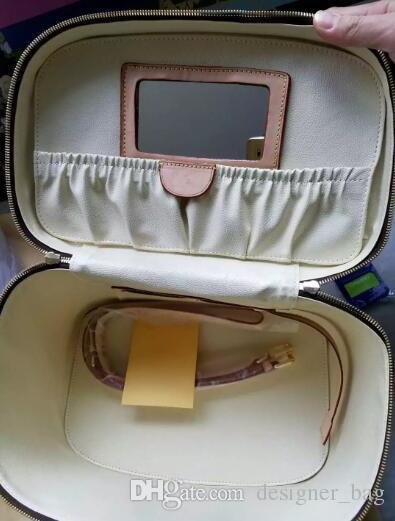 Sac de maquillage pour femme en cuir véritable sacs célèbre marque designer maquillage boîte grand organisateur de voyage voyage trousse de toilette fourre-tout top qualité