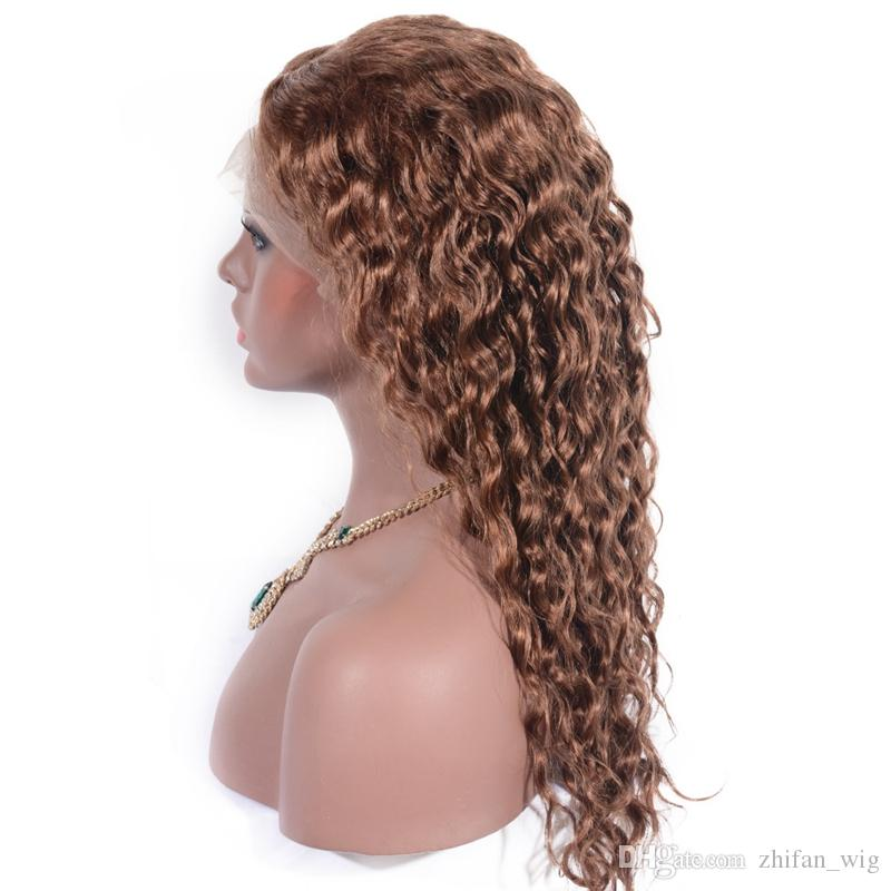 ZhiFan Glueless Lace Front Human Hair Wigs With Vietnamese Hair 6 Inch to 26 Inch Curly Wigs