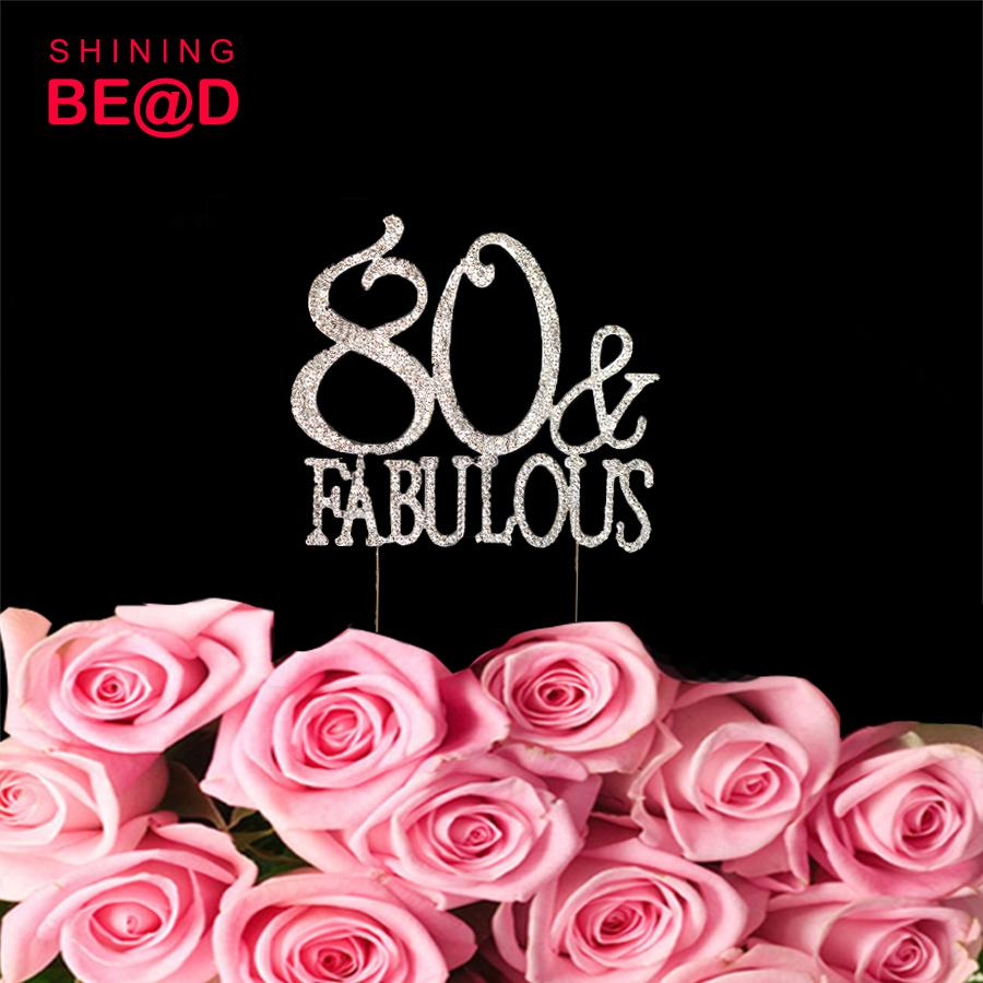 2019 80 And Fabulous Cake Topper Birthday 80th Party Happy From Igarden002 10307