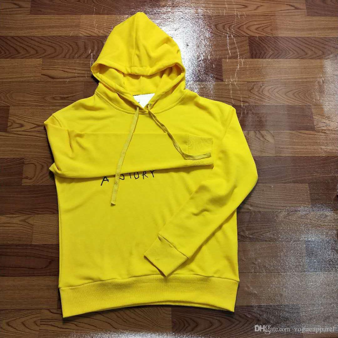 Compre Ropa Para Hombre Marca De Lujo Doodle Sudaderas Con Capucha Amarillo  Negro Blanco Letras Pullover Ropa De Moda Para Mujer Con Logos A  54.07 Del  ... f5110819f0eb