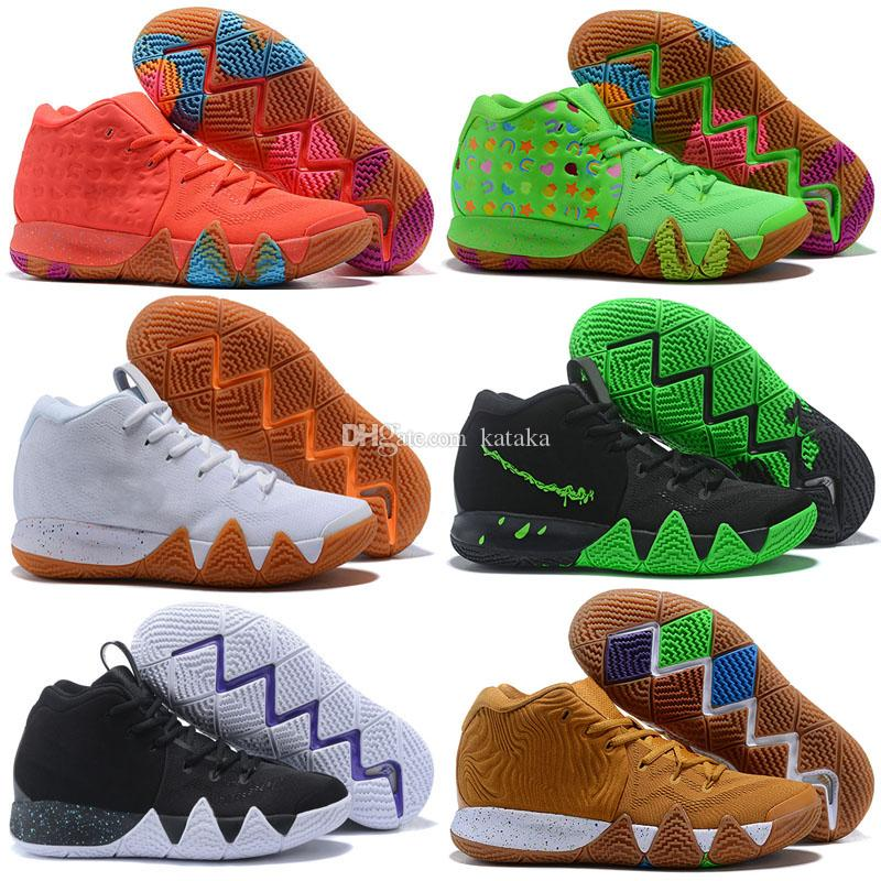 Kyrie IV Green Lucky Charms Mens 2018 All New Easter Halloween Basketball Shoes For sale 4 Sports shoes