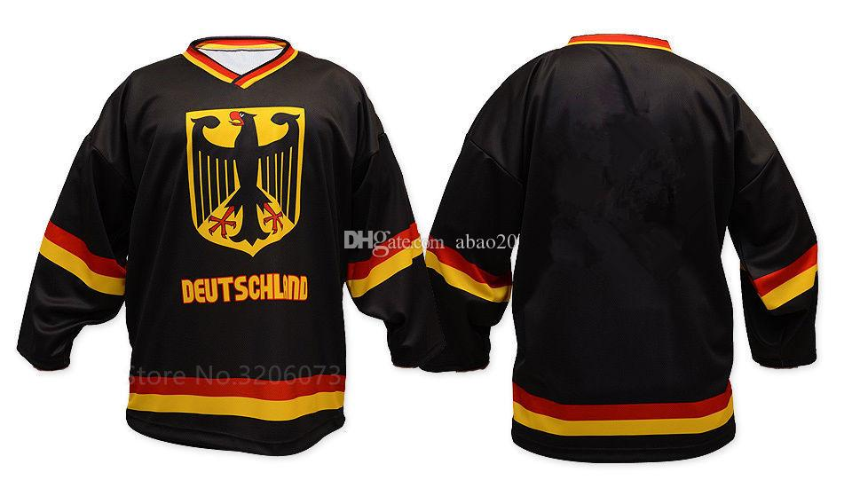 2019 TEAM GERMANY WHITE BLACK HOCKEY JERSEY Mens Embroidery Stitched  Customize Any Number And Name Jerseys From Abao20 3736acf4e