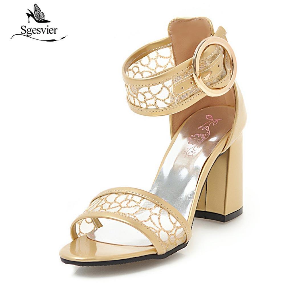 82a3fd79eb Compre Atacado Sandálias Da Moda 2018 Mulheres Verão Saltos Grossos Peep  Toe Net Fios De Tecido Superior Sapatos Senhoras Casuais Sandálias De  Vestido B323 ...