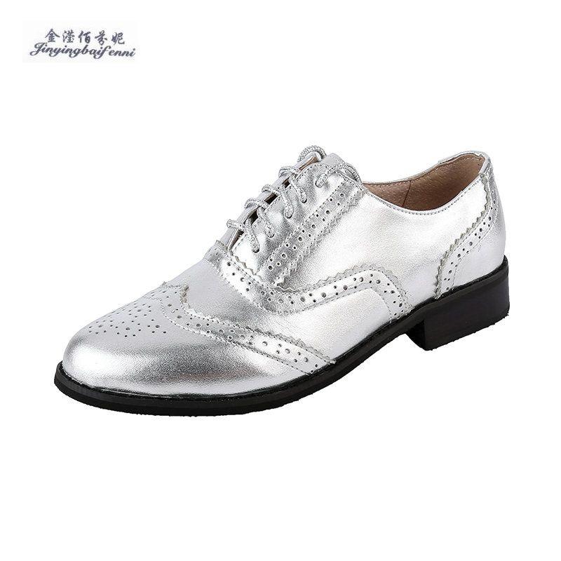 3d0f7380 Compre Zapatos Oxford Vintage Bullock Para Mujer Con Cordones Cuero De  Grano Completo Zapatos De Cuero Casuales Femeninos Marrón Plano Sapatos  Mulher A ...