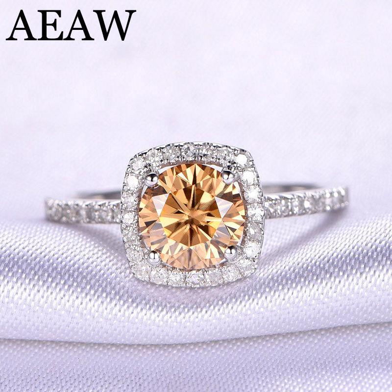 203491b0825 Acheter Superbe 10K Or Blanc 2 Carat Thé Jaune Couleur Moissanite Bague  Diamant Solitaire Bague De Mariage Pour Femmes S923 De  1034.93 Du Ruiqi08
