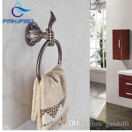 2019 Elegant Antique Bronze Bathroom Towel Rack Holder Embossed