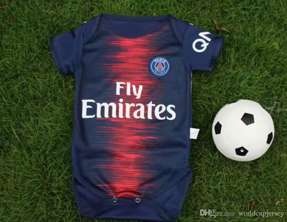 Cheap 2018 BABY Soccer Jersey Juventus Real Madrid Arsenal RONALDO Jumpsuit  Baby 1 - 2 Years BOYS GIRLS Football Jerseys 9d0016a47