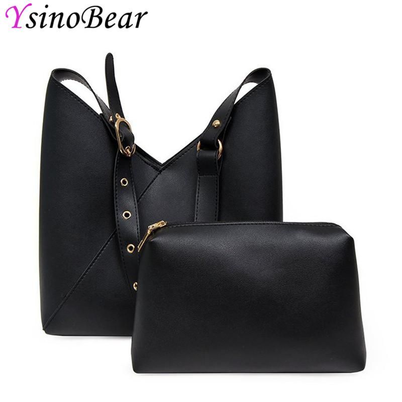YsinoBear Casual Handbags Shoulder Bags For Women Luxury Black Pink PU  Leather Crossbody Bags Ladies Composite Bag Hot Cheap Purses Handbags For  Women From ... b2200e59b1010