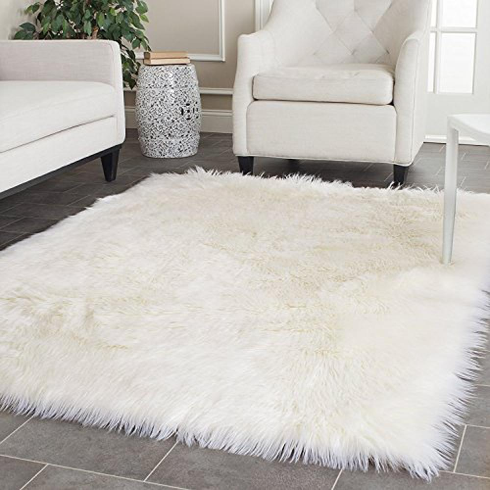 white faux sheepskin blanket faux fur rug rugs and carpets for