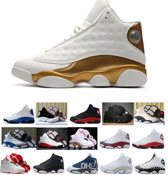 809cbf21b5d75b 2018 New Mens Basketball Shoes Sneakers For Men 13S Black Cat Chicago Red  French Blue Bred With Box Men Basketball Shoes Basket Ball Shoes From ...