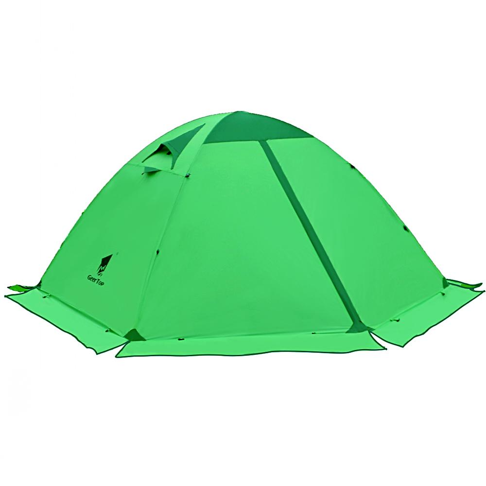 GeerTop Toproad 2Plus Double Layer 2 Person 4 Season Dome Tent Green Humane  Shelter Womens Shelters From Masn 38434d6ea