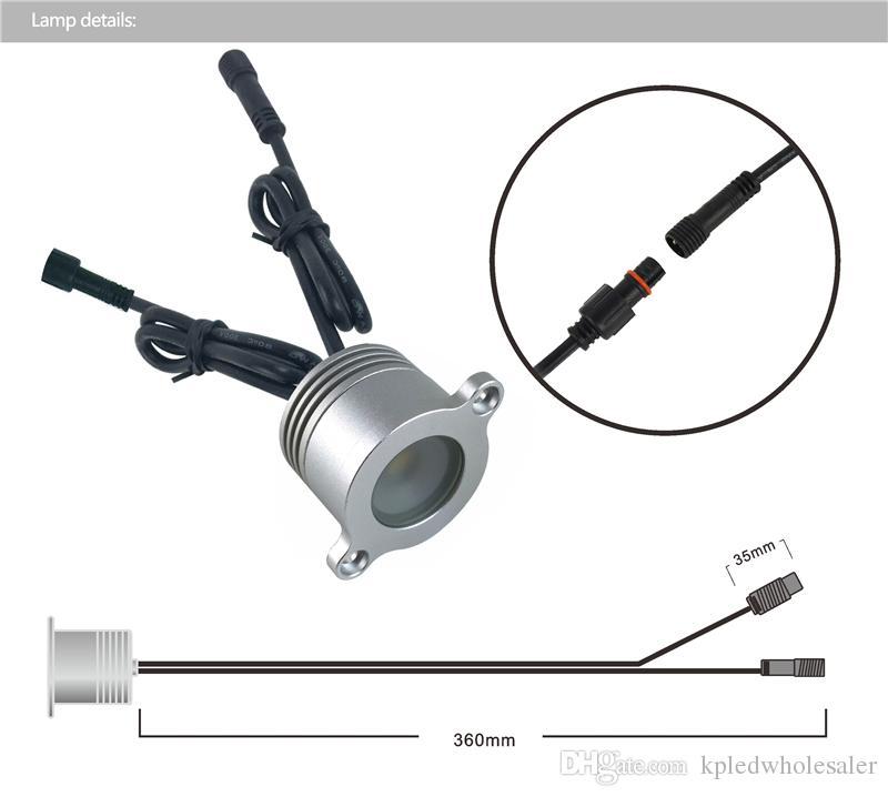 1W Led Mini Railing Light, DC12V Outdoor Led Downlight Reecssed Stair Railing Light, Handrail Light IP67 Waterproof
