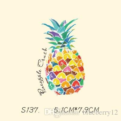 DIY Çıkartmalar Ananas Yamaları Sticker Için T Shirt Komik Demir-on Transferler Için Yamalar Sihirli Sticker Giysi