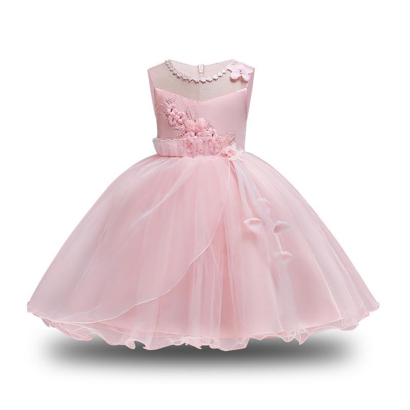 a4643a2395b20 Satın Al Kızlar Için Pembe Dantel Prenses Elbise 2018 Zarif Toddler Kızlar  Için Parti Elbiseler Noel Kostüm Çocuklar Elbiseler Çocuk Giyim, $74.36 |  DHgate.