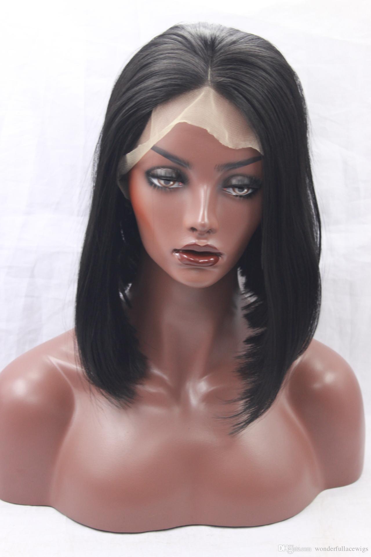 дешевые синтетические парики кружева-синтетические кружева фронт парик Боб стрижка черные женские кружева фронт натуральные парики короткие синтетические волосы дешевые