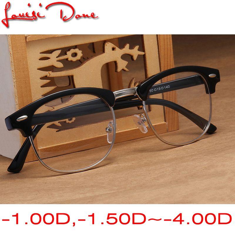 193f99d27 Compre Miopia Óculos De Armação Para Mulheres Homens Retro Gafas Oculos  Óculos Lentes De Óculos De Sol Optics Hombre De Grau Masculino Geek Falso  De ...