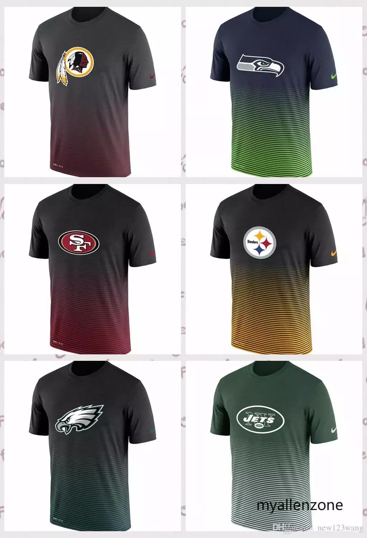 a171e44364 Compre Washington Redskins New York Jets Philadelphia Eagles Pittsburgh  Steelers San Francisco 49ers Novo Dia Melhor Desempenho T Shirt De  Myallenzone