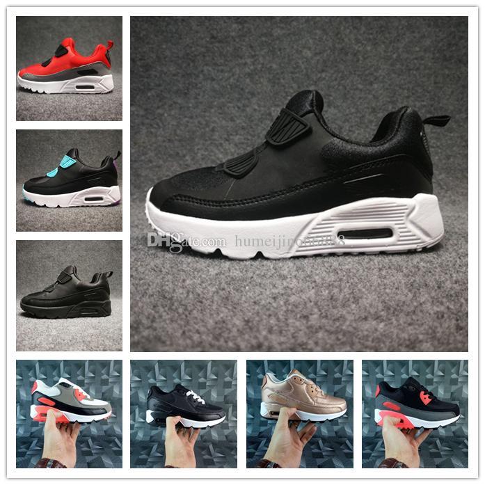 check out 47f8f 32bf4 Compre Nike Air Max Airmax 90 Zapatos Para Niños Presto 90 II Zapatillas  Para Niños Negro Blanco Zapatillas Para Bebés Infantiles 90 Zapatos  Deportivos Para ...